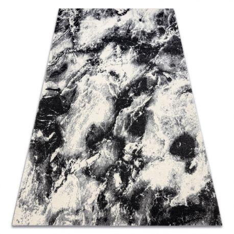 Dywan KAKE 25817657 Marmur nowoczesny czarny / biały 80x150 cm