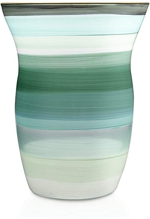 Angela Neue Wiener Werkstätte Wazony Monika Mint z kolorowego szkła, zielony, 13 cm