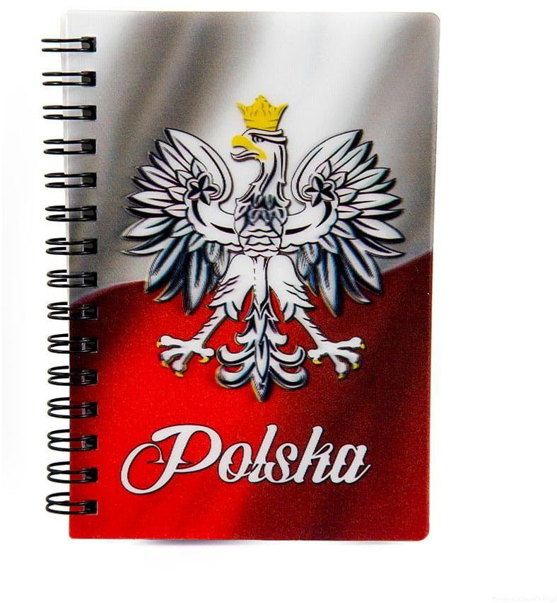 Notatnik 3d Polska Flaga