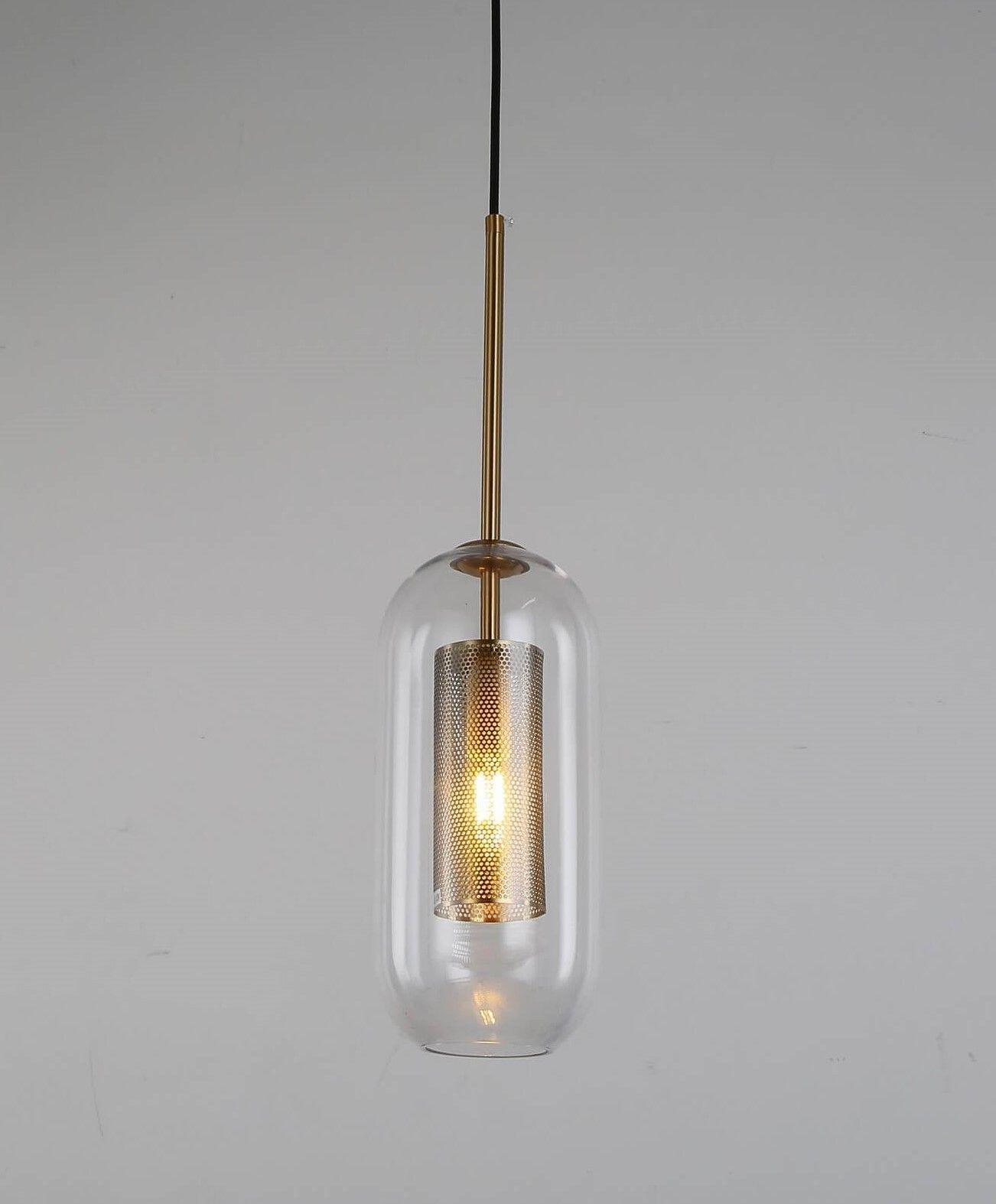 NOWOCZESNA LAMPA WISZĄCA MOSIĘŻNA ANTILLA