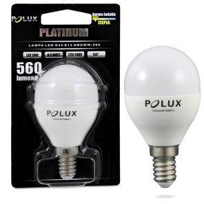 Żarówka POLUX LED G45 6,5W gwint E14 560lm ciepła/żółta barwa światła POLUX/SANICO