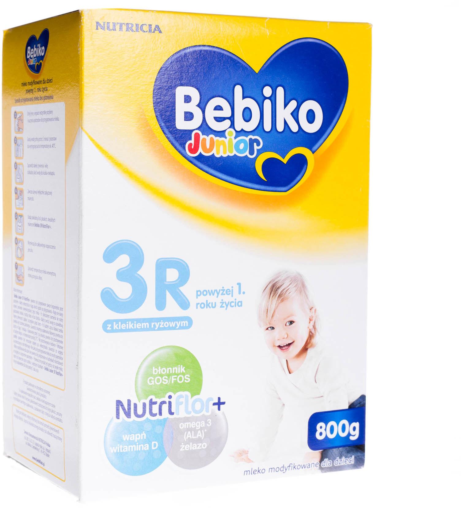 Bebiko Junior 3R mleko modyfikowane powyżej 1 roku życia proszek 800 g