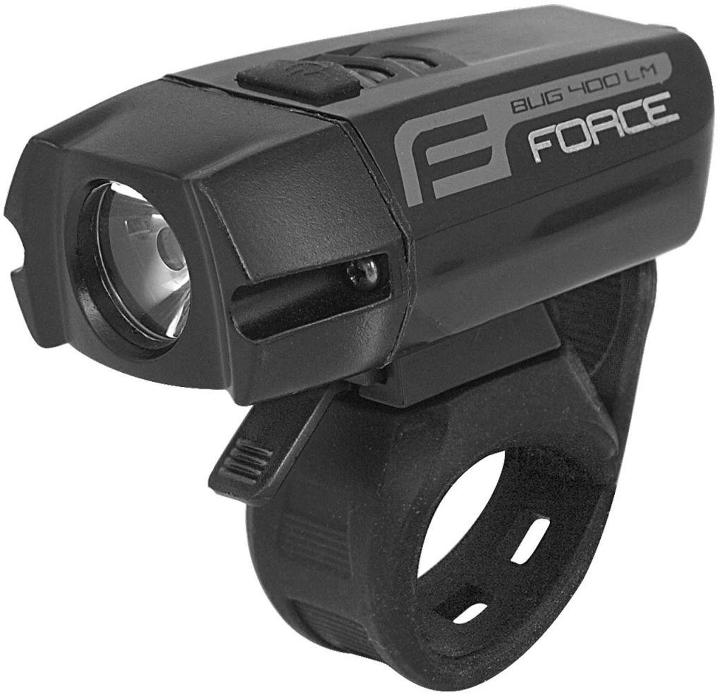FORCE 45207 BUG-400 lampka rowerowa przód 400 lumenów,8592627077777