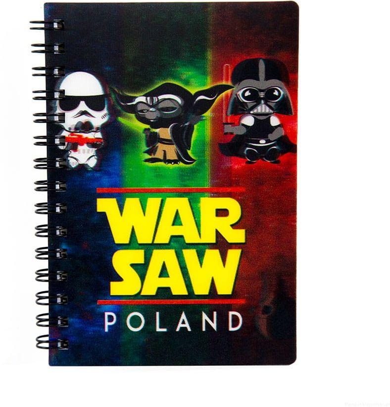 Notatnik 3d Warszawa WarSaw - postacie