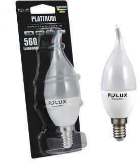 Żarówka POLUX LED F40 6,5W gwint E14 560lm ciepła/żółta barwa światła 303929 POLUX