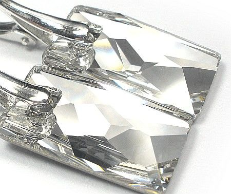 SWAROVSKI piękne kolczyki SREBRO Crystal