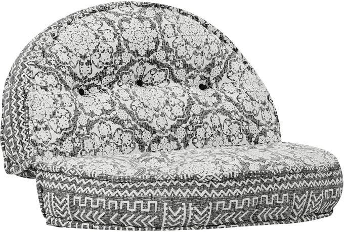 Materiałowa sofa Dina - ażurowa
