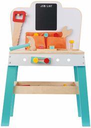 Lelin 34 szt. drewniany stół warsztatowy dla dzieci i dzieci stanowisko robocze narzędzie DIY biurko odpowiednie dla dzieci w wieku 3+