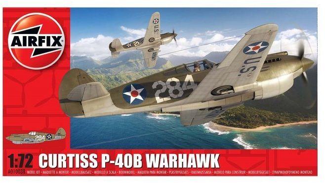 Myśliwiec Curtiss P-40B Warhawk model do sklejania Airfix