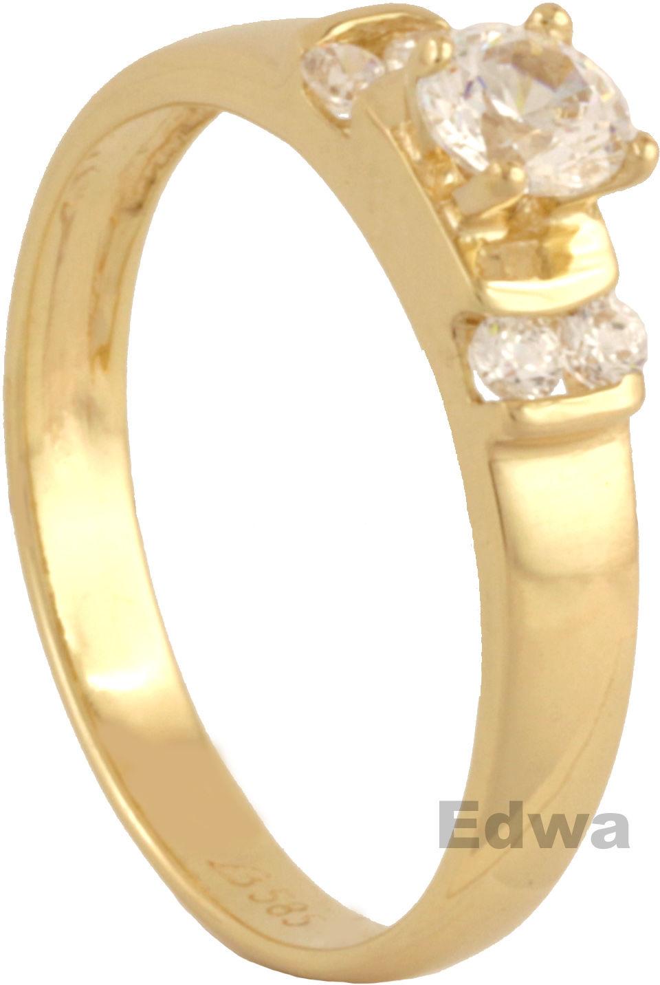 Pierścionek złot z cyrkoniami pr.585