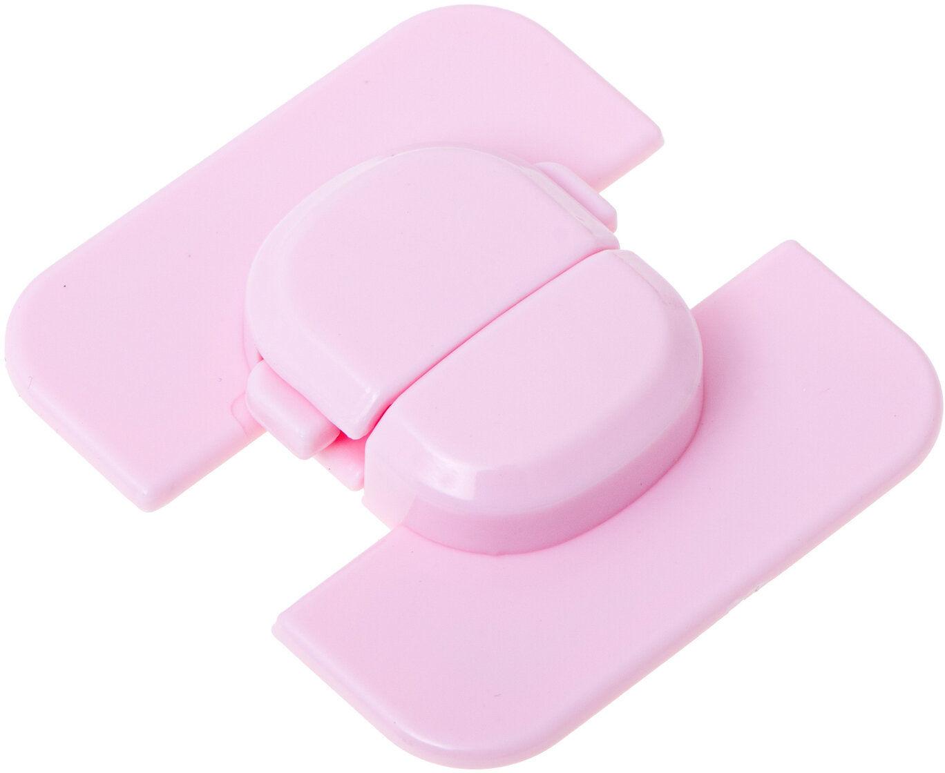 Narożna blokada zabezpieczenie do lodówki szafek szuflad różowa