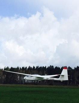 Lot szybowcem - start za wyciągarką  Słupsk