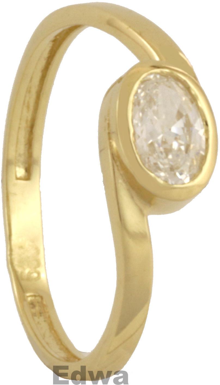 Pierścionek złoty z cyrkonią pr.585