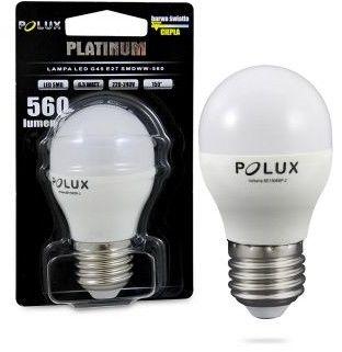 Żarówka POLUX LED 6,5W gwint E27 560lm ciepła/żółta barwa światła 303943 POLUX/SANICO- wysyłka 24h (na stanie 25 sztuk)