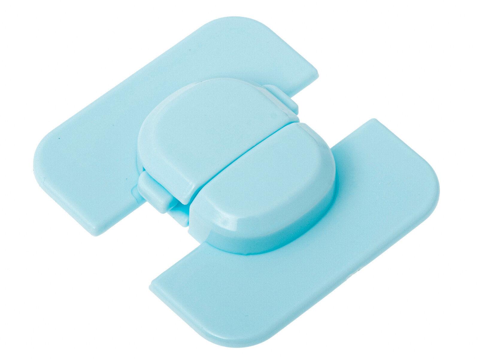 Narożna blokada zabezpieczenie do lodówki szafek szuflad niebieska