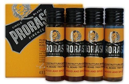 Proraso Wood & Spice gorący olejek do pielęgnacji brody 4 x 17 ml
