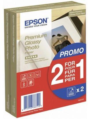 Papier 10x15 EPSON Premium Glossy Photo Paper, błyszczący 255g (2x40 ark) (C13S042167)