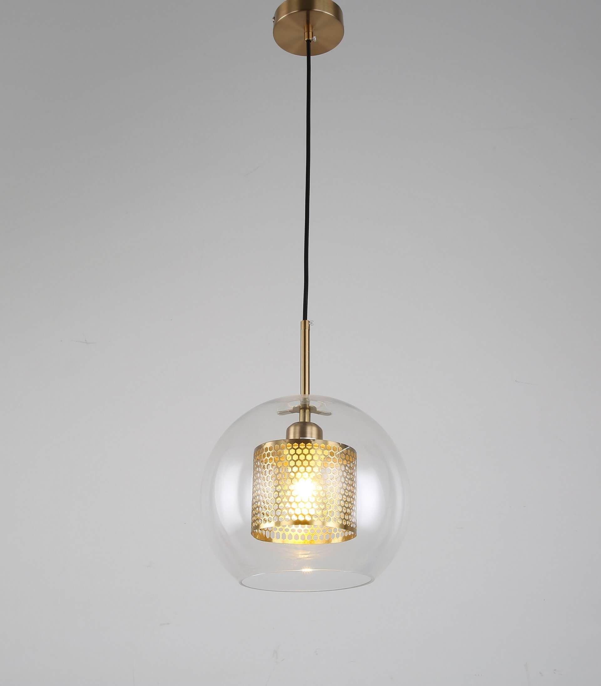 NOWOCZESNA LAMPA WISZĄCA MOSIĘŻNA PONTINA