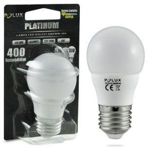 Żarówka POLUX LED 4,9W 35W gwint E27 400lm ciepła/żółta barwa światła POLUX/SANICO- wysyłka 24h (na stanie 17 sztuk)
