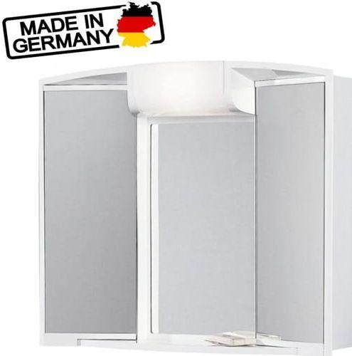 ANGY szafka podświetlana z lustrem 59x50x15cm 40W biała