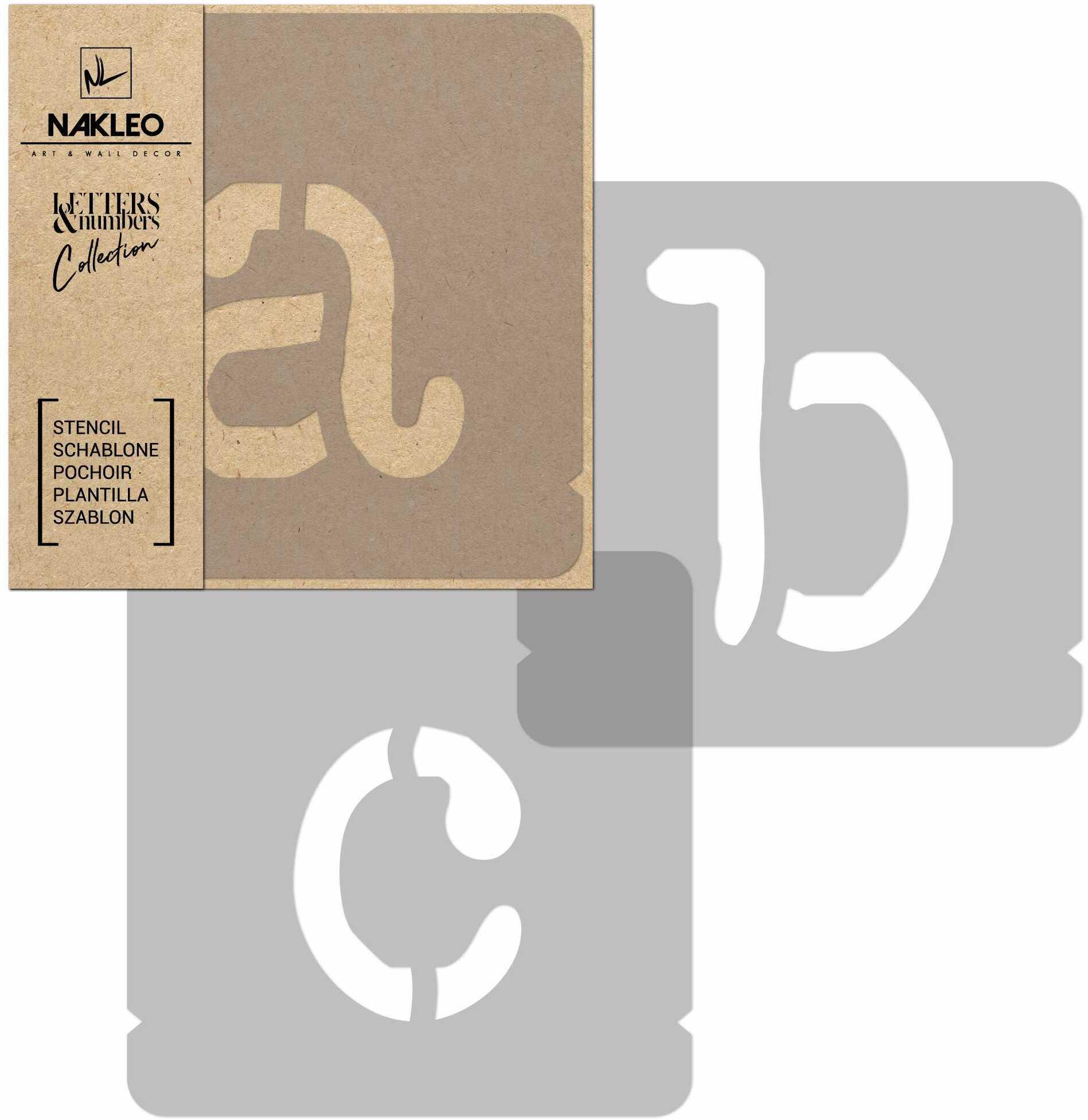 szablon malarski wielokrotny // litery i cyfry 250 mm // Typewriter Małe