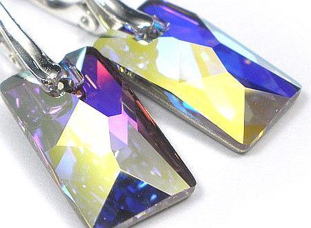 SWAROVSKI piękne kolczyki SREBRO Aurora