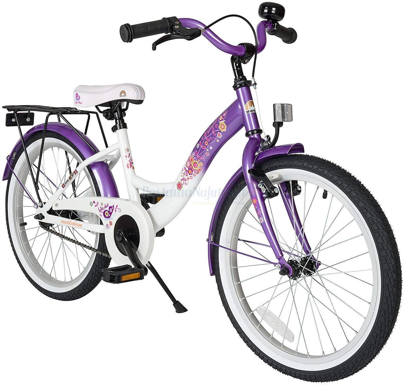 """Rower dla dzieci 20"""" BIKE STAR GERMANY klasyczny liliowo biały"""