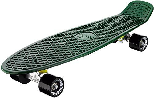 Ridge Skateboards Unisex''s Ridge 27-Organics Range Big Brother Board-Wyprodukowano w Wielkiej Brytanii-68 cm x 19 cm deskorolka, zawsze zielona/czarna, cale