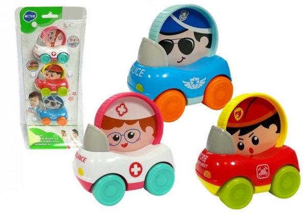 Zestaw Autek Dla Dziecka 3 elementy Policja Straż Pogotowie