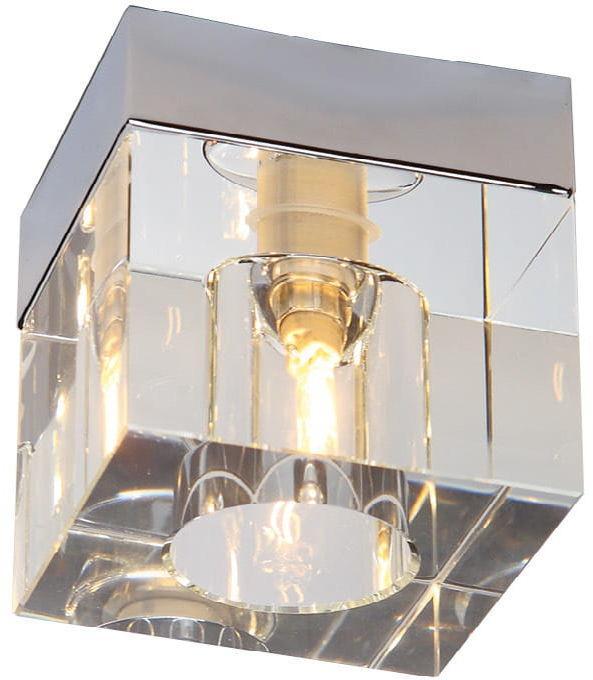 Maxlight Ice Mini C0028 plafon lampa sufitowa metalowa klosz szklany chrom 1x40W G9 9cm