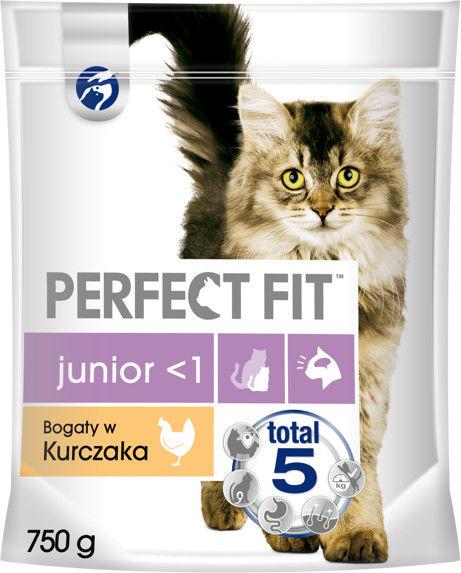 PERFECT FIT (Junior) 750g Bogaty w kurczaka - sucha karma dla kota