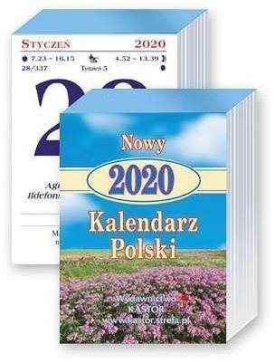 Kalendarz 2020 KL 05 Nowy Kalendarz Polski zdzierak ZAKŁADKA DO KSIĄŻEK GRATIS DO KAŻDEGO ZAMÓWIENIA