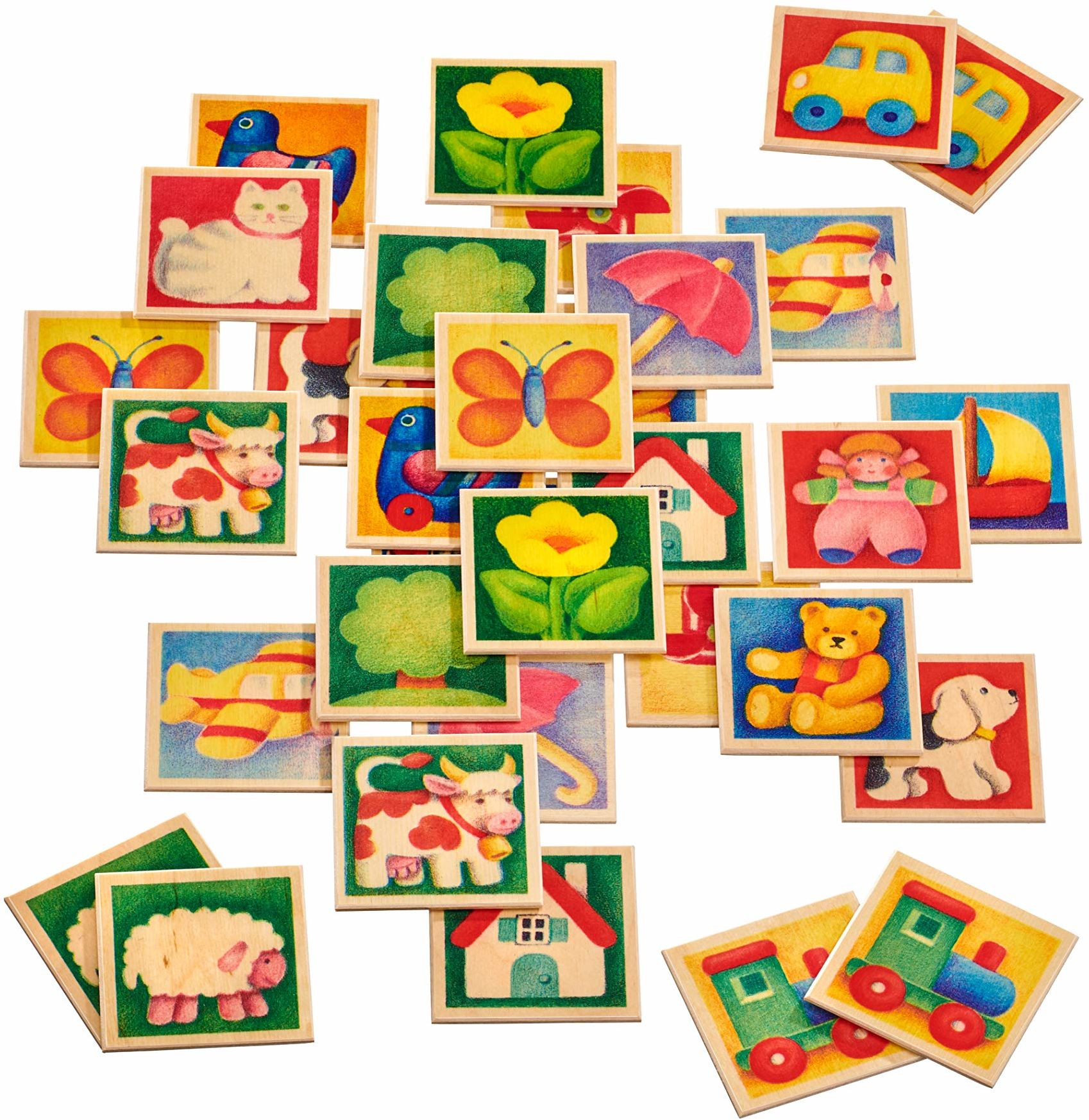 Selecta 63017 Memo Kunterbunt, loteryjka obrazkowa, 36 części