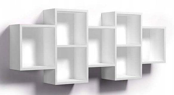 Biała wisząca półka w stylu skandynawskim - Timona