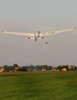 Lot szybowcem - start za wyciągarką  Kraków