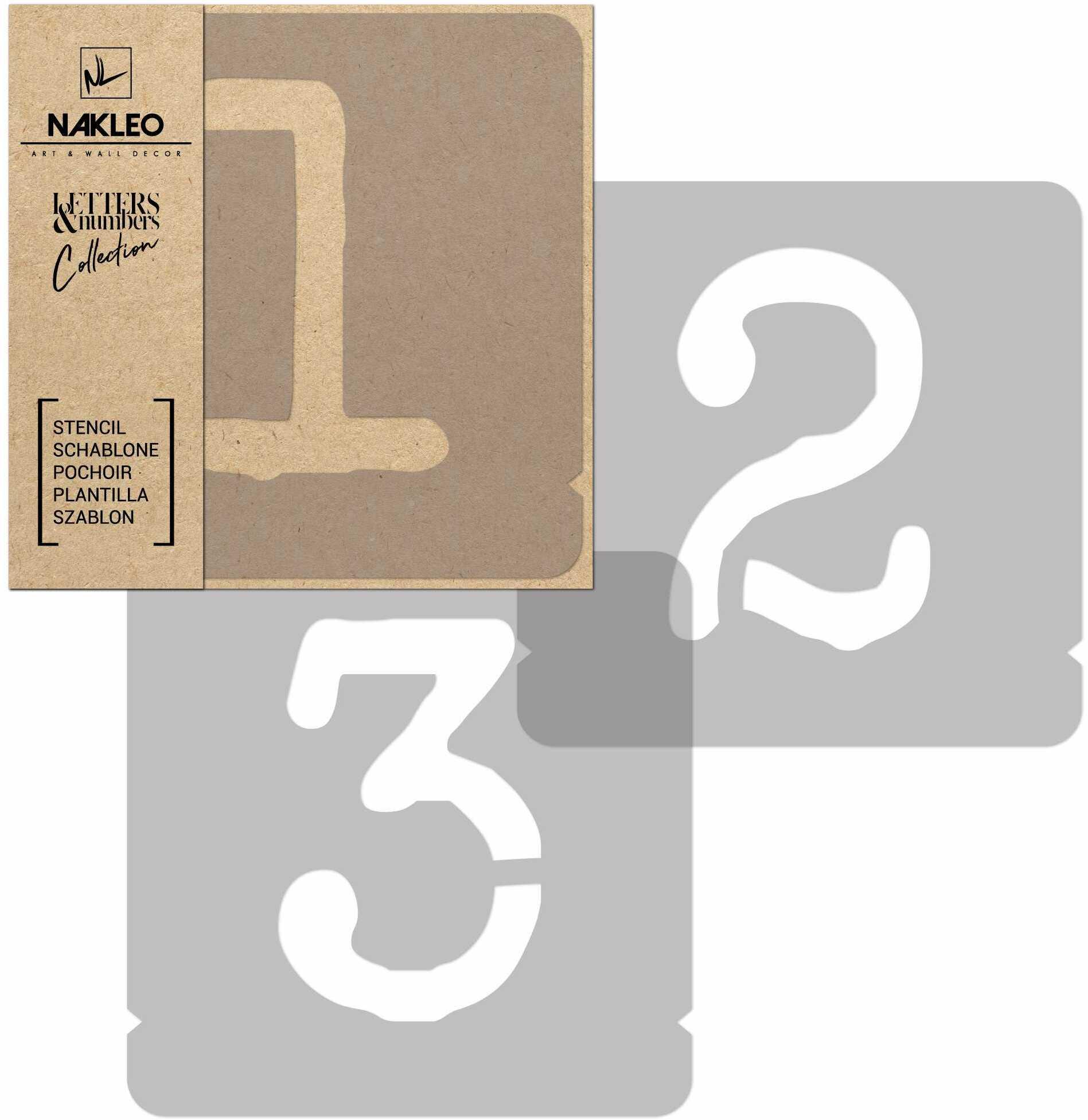 szablon malarski wielokrotny // cyfry 250 mm // Typewriter Cyfry