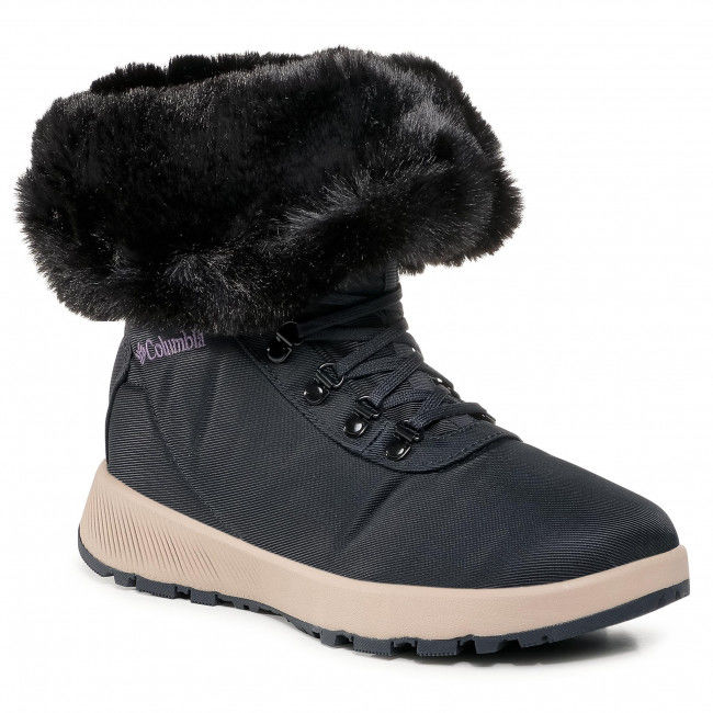 Śniegowce COLUMBIA - Slopeside Village  Omni-Heat  Hi BL0146 Extreme Midnight/Cyber Purple 444