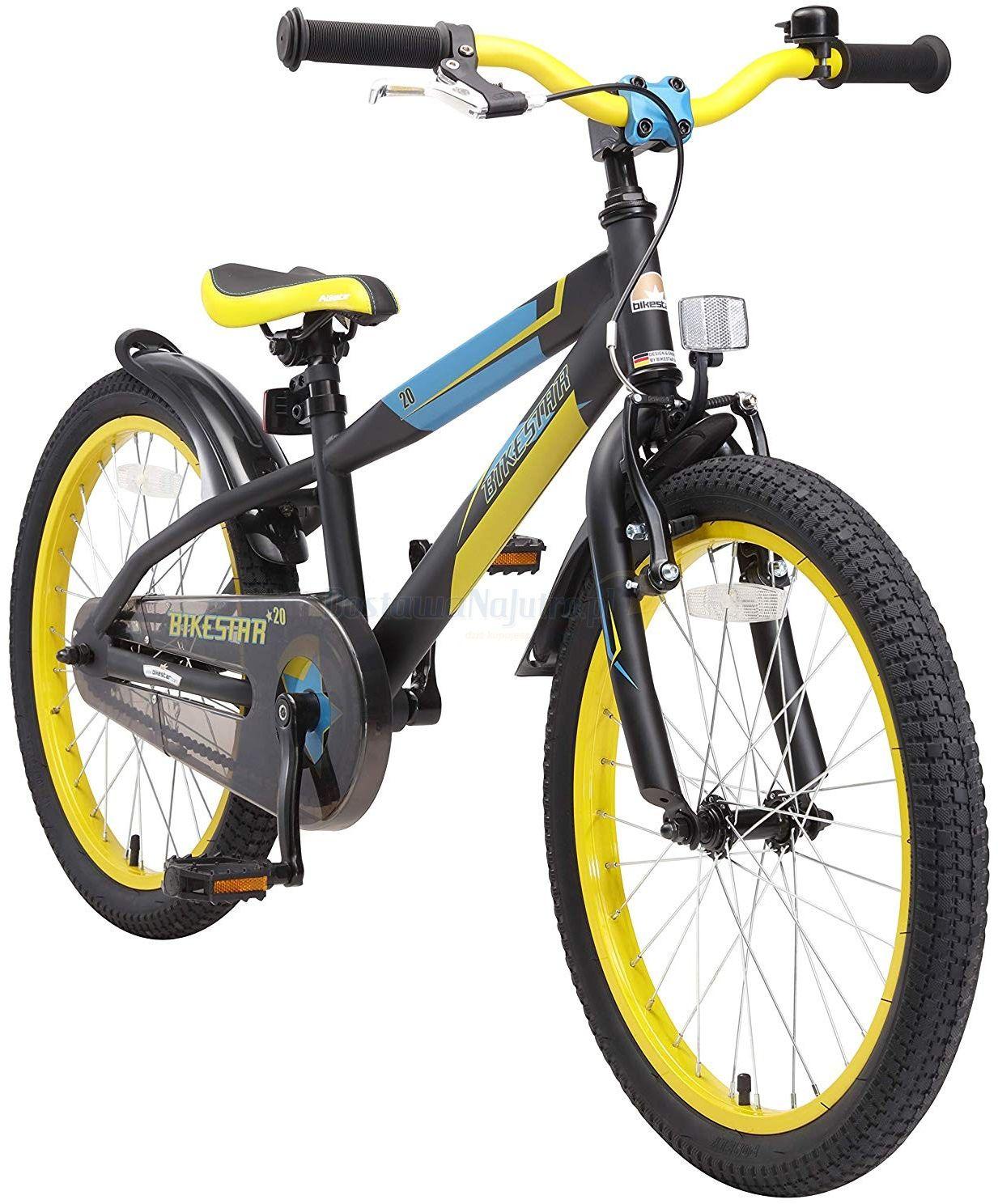 """Rower górski dla dzieci 20"""" BIKE STAR GERMANY czarno żółty"""