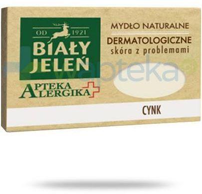 Biały Jeleń Apteka alergika mydło naturalne dermatologiczne cynk 125 g