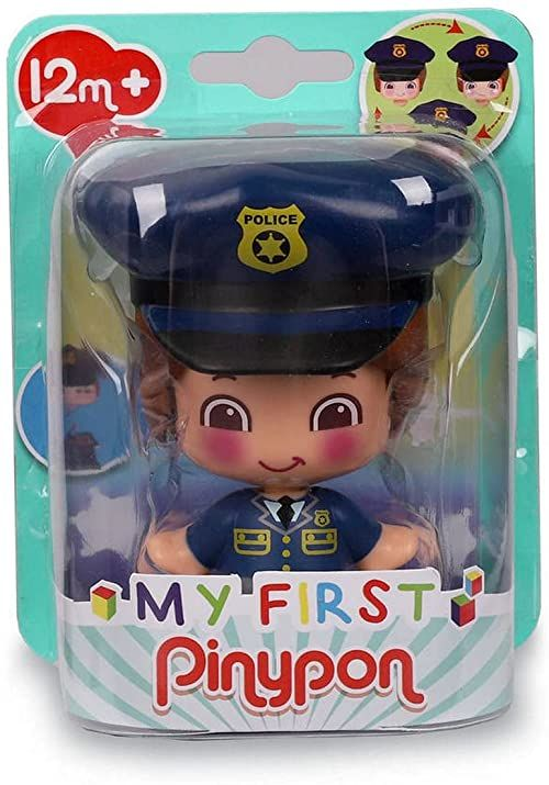 My First Pinypon - Police figure, educational toy for preschool children, learn professions, recommended from 1 do 3 years (Famosa 700016403)