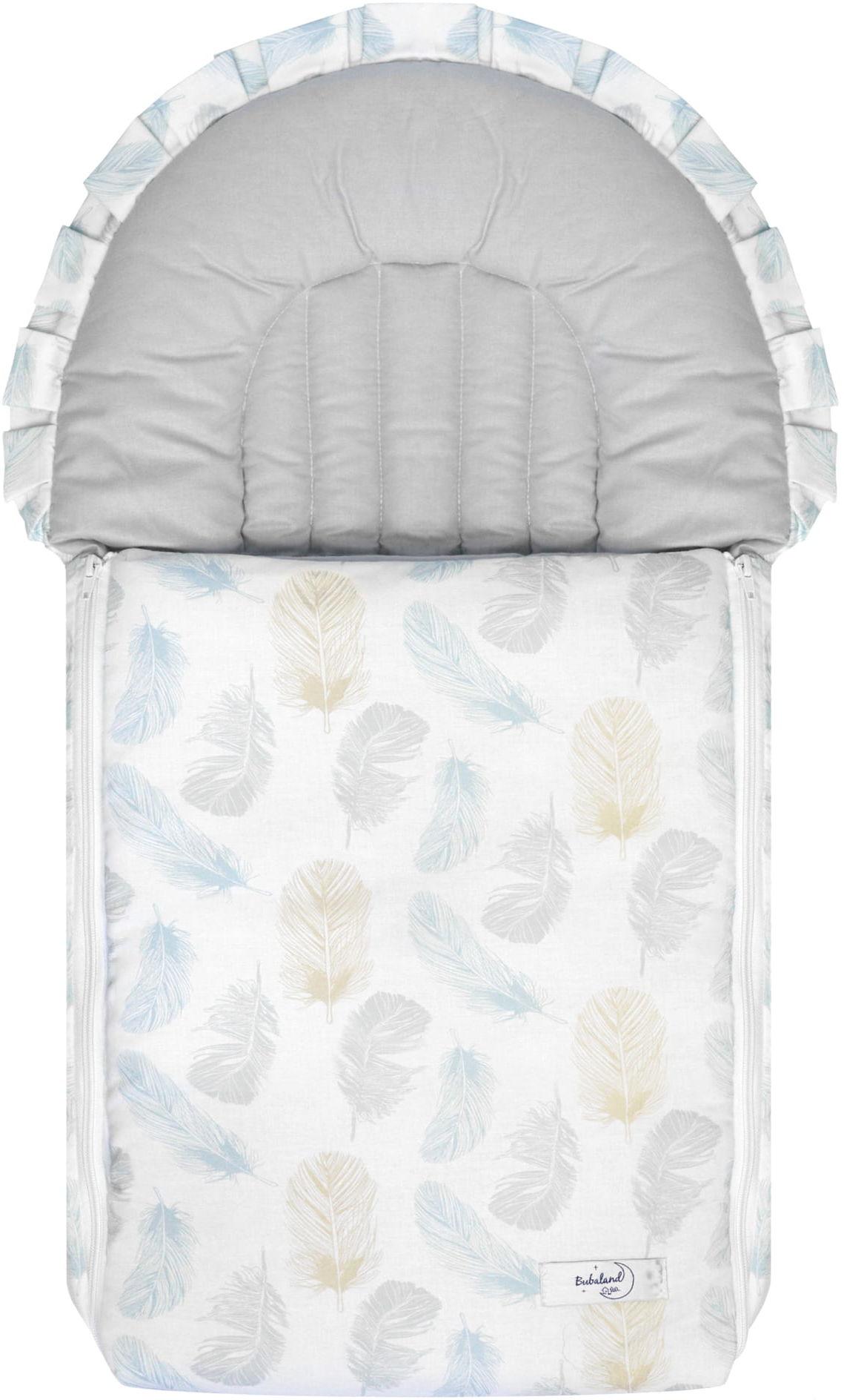 Rożek dla niemowlaka - becik dla dziecka Piórka  100% bawełna