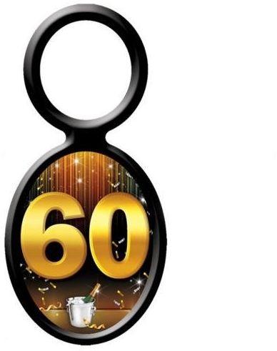 Zawieszki na butelki 60 urodziny 20 sztuk el204