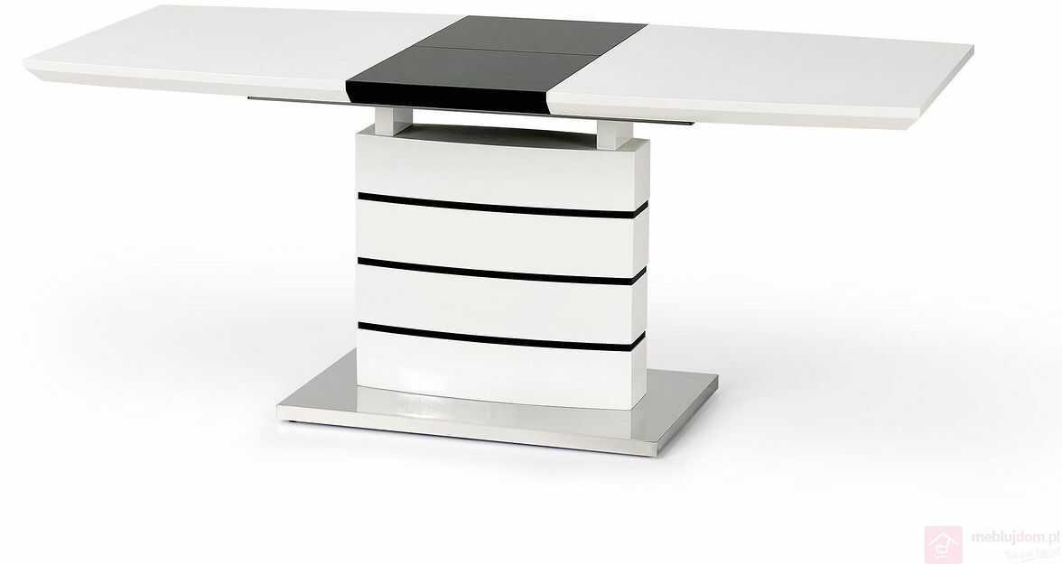 Stół NORD Halmar Biały połysk, 80x140-180 cm