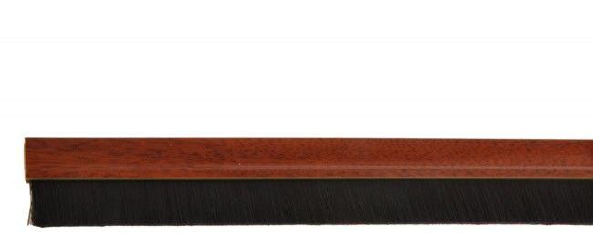 Listwa uszczelniająca ze szczotką 24mm samoprzylepna sosna (ciemne drewno) PCV, 1mb