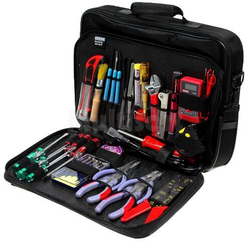 Zestaw narzędzi do prac elektronicznych i elektrycznych