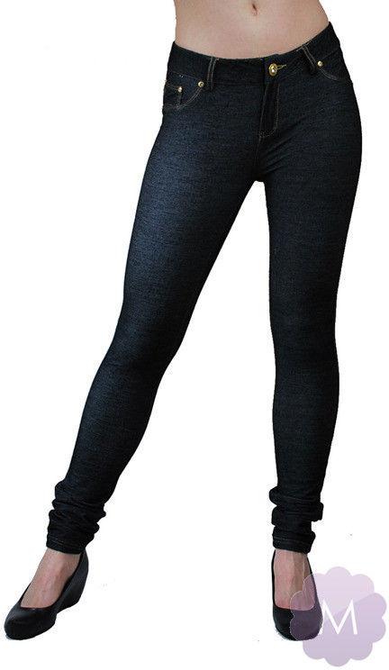 Elastyczne spodnie leginsy czarne rurki z wyższym stanem