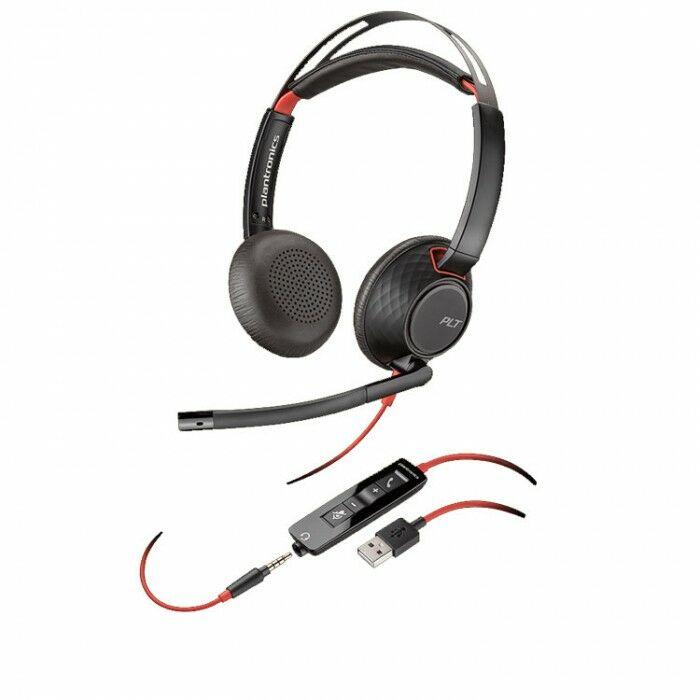 Plantronics Blackwire C5220 USB-C Przewodowy zestaw słuchawkowy USB-C