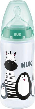Butelka NUK FC+ 300 ml smoczek silikon M (6-18m) z czujnikiem temperatury