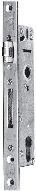 Zamek wpuszczany rolkowy 92/30 na wkładkę MC-30R