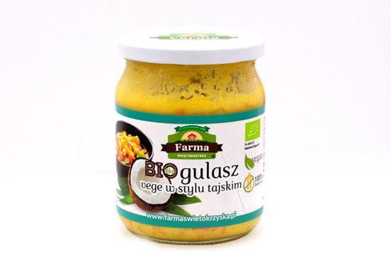 Gulasz vege w stylu tajskim bio 450 g - farma świętokrzyska